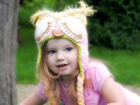 Sevimli çocuk şapkaları