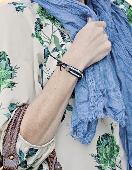 Beaded Leather Bracelet 7 Takı tasarımı: Süper Kolay Boncuklu Deri Bileklik