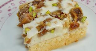 Kuru-İncirli-Karamelli-Pasta