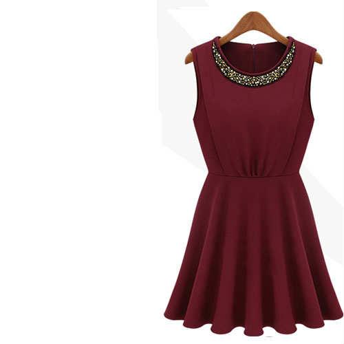 şarap rengi elbise