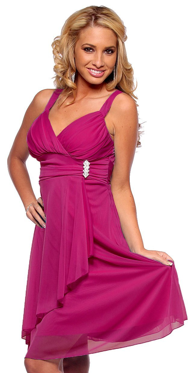 magenta-formal-homecoming-dresses-2014