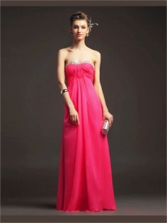 red column sweetheart sequins organza 2014 prom dresses-t30032