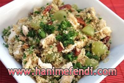 tavuklu bulgur salatası