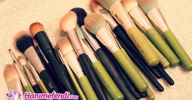 makyaj fırçaları temizliği