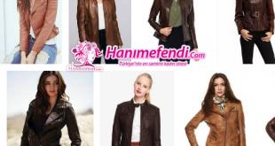 kahverengi deri ceketler